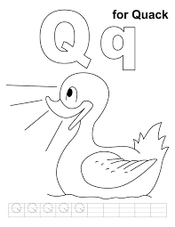 Small Picture Q for quack coloring page with handwriting practice Download