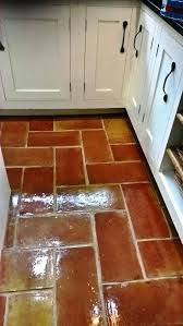 terracotta kitchen floor tiles in after cleaning and sealing how to clean vinegar stripping varnish off