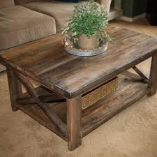 Attractive Rustic Coffee Table And End Tables Images