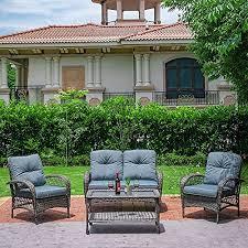 jvvmnjlk patio wicker furniture set