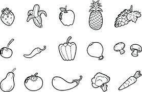 Vegetables Coloring Page Antiherome