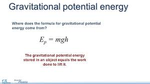 e p mgh the gravitational potential energy d in an object equals the work done