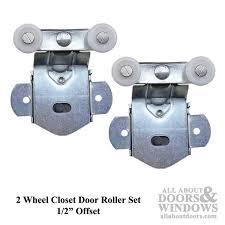 discontinued sterling hardware 2 wheel sliding closet door roller assemblies