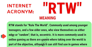 Be Stands For Rtw Meaning What Does Rtw Stand For With Useful