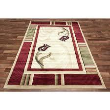 runner area rugs modern red green border rug cream ivory center swirl pattern corner flowers hallway