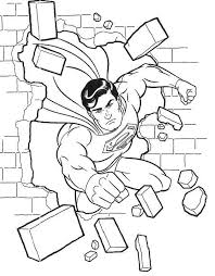 Small Picture Superman Flying Through Wall Coloring Page Art Coloring Pages