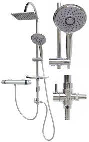 Duschset Duschsystem Thermostat Regendusche Variabele Halter Mp120 24x19 T