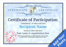 Certificate Of Participation Templates Some Dos And While Creating A Science Fair Participation