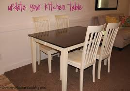 how to stain and paint your kitchen table twist me pretty rh twistmepretty com how to paint a kitchen table and chairs how to paint a kitchen table to look
