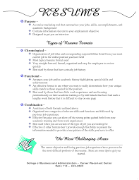 Excellent List 3 Types Of Resumes Contemporary - Resume Ideas .