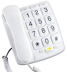 Amazon emerson em300wh big button phone for elderly seniors improved version with longer wire landline corded phone with speakerphone big button