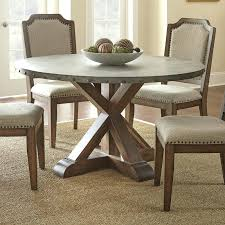 x base round dining table dining room amazing furniture zinc top round table with wooden x