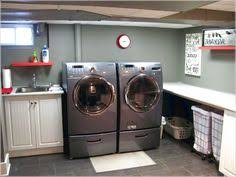 Unfinished basement laundry room ideas Room Makeover Laundry Room Idea Unfinished Laundry Room Small Laundry Rooms Basement Laundry Rooms Basement Pinterest 114 Best For The Laundry Room And Basement Images In 2019 Washroom
