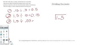 Dividing By Tenths With Quotients That Work Out Nicely Decimals ...