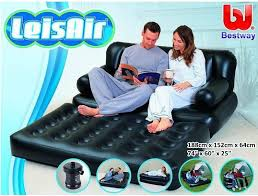 original bestway inflatable fashion multifunctional air sofa double seats 75056 pull out seater foot rest pumper