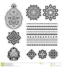 комплект Mehndi татуировки хны декоративный орнамент конструкции