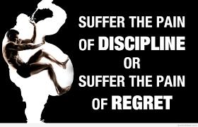 Pain Of Discipline Quote Wallpaper