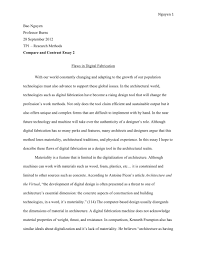 essay for masters studies