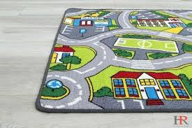 kids car road rugs city map play mat for classroom baby room non slip canada rubber