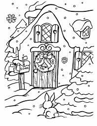 Kleurennu Een Huis In De Sneeuw Kleurplaten