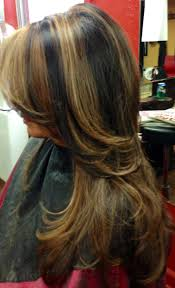 Dark Brown With Light Brown And Caramel Highlights Hairfashion Black Hair With Caramel Highlights