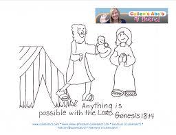 Abraham Sarah Bible Memory Verse Children