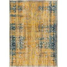 lau stratton yellow 8 ft x 10 ft modern vintage eclectic area rug