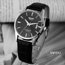 men women black leather watch date quartz clock watches for men women black leather watch date quartz clock watches Â
