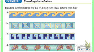 Frieze Patterns Cool Geometry Glide Reflections And Frieze Patterns YouTube