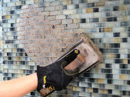 step 5 apply grout to tiled walls
