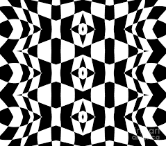 Abstract Art Black And White Patterns Geometric Black White Op Art Pattern Abstract Art No 205