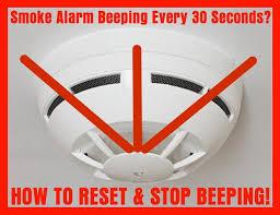 smoke detector beeping