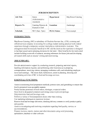 logistics manager job description sample  retail assistant manager    sample resume assistant manager resume on catering job