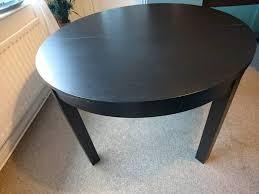 ikea bjursta round extendable brown black dinning table
