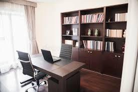 home office bookshelves. Download Modern Home Office With Bookshelves. Stock Image - Of Large, Book: Bookshelves