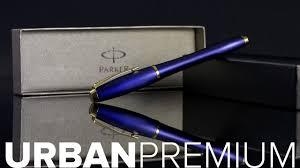 <b>Parker Urban Premium</b> Fountain Pen in Penman Blue - YouTube