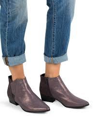 Gunmetal Ziper Booties Qupid Booties Shoes Women