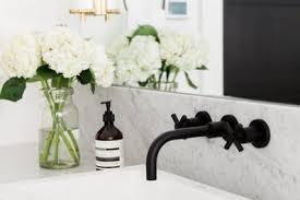 black bathroom fixtures. (Image Credit: Studio McGee) Black Bathroom Fixtures