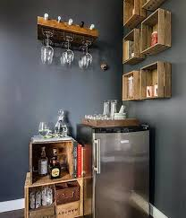 Mini Bar Wood Storage Boxes Cheap Man Cave Ideas