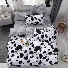 new bed linen bedding set black cow