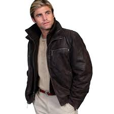 men s scully frontier leather jacket with zip out knit collar 400 brown sold out