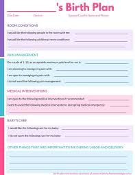 Home Birth Plan Worksheet How To Write A Birth Plan With Printable Birth Plan Worksheet