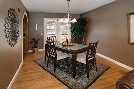 Dinning Rooms  Modern Elegant Dining Room With Large Glass Dining - Large dining room rugs