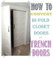 Updating Closet Doors Bi Fold To Paneled French Door Closet Makeover Doors