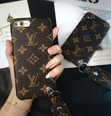 classic lv louis vuitton monogram leather phone case metal per cover for iphone 8 iphone 7 iphone x brown