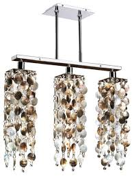 23 w 3 light mother of pearl pendant chandelier chelsea 645p beach style