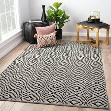 arbor black cream handmade trellis area rug beige