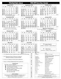 Calnedar Pittsfield Schools Release 2018 19 Calendar Download It Here