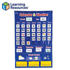Pacon Calendar Weather Pocket Chart Calendar Weather Pocket Chart By Learning Resources