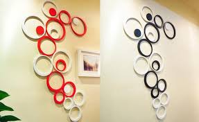 circle 3d design decoration wood wall stickers